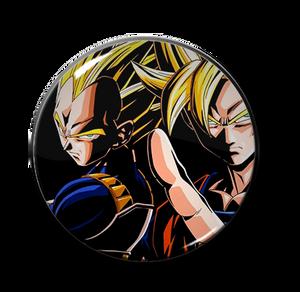 "Goku & Vegeta 2.25"" Pin"