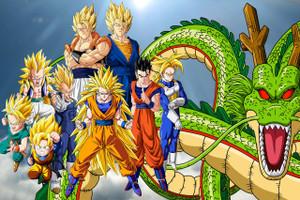 """Dragon Ball Z Super Saiyans 12x18"""" Poster"""