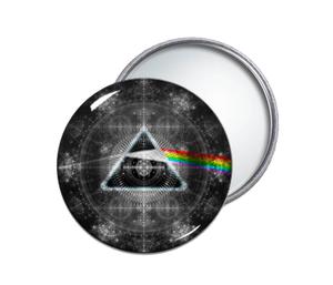 Pink Floyd's Dark Side of the Moon Round Pocket Mirror
