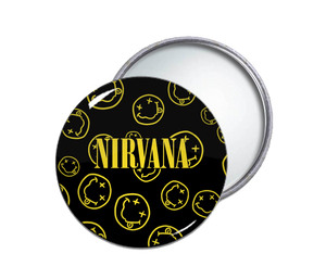 Nirvana Smileys Pocket Mirror