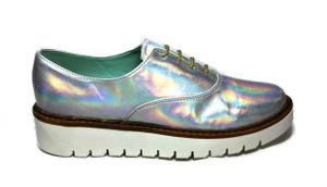 Perla Armenta - Iridescent Moccasin Shoes