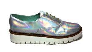 Perla Armenta - Iridescent Moccasin Shoes