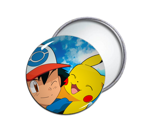 Ash & Pikachu Pocket Mirror