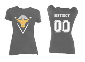 Pokemon's Team Instinct Grey Blouse T-Shirt