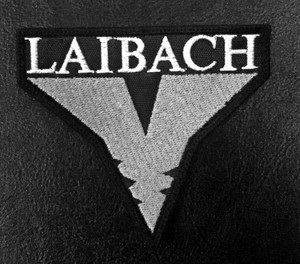 """Laibach V Logo 2.5x4"""" Embroidered Patch"""