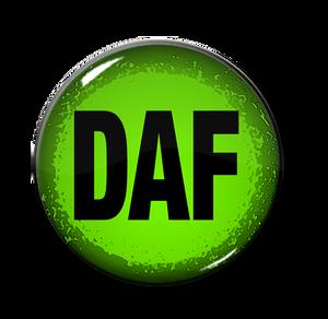 "D.A.F. - Logo 1.5"" Pin"