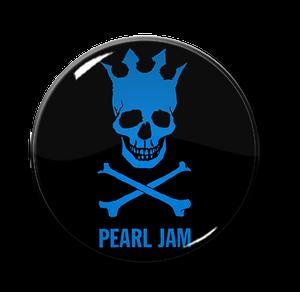 """Pearl Jam - Skull 1.5"""" Pin"""