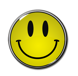"Smiley Face 1.5"" Pin"
