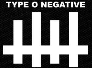 "Type O Negative Logo 5x4"" Printed Patch"