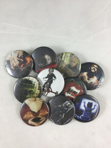 10 Piece Pin Lot - Frankenstein, Saw, Dracula + More!