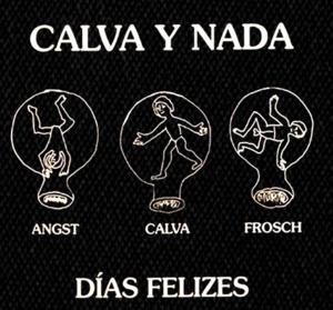 """Calva y Nada Dias Felizes 5x5"""" Printed Patch"""