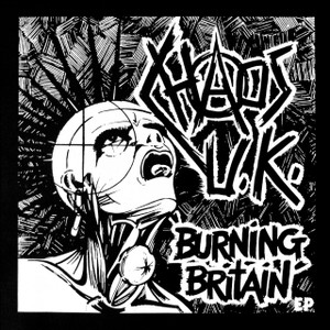 "Chaos UK - Burning Britain 5x5"" Printed Sticker"