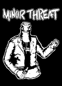 "Minor Threat 5.5x4"" Printed Sticker"