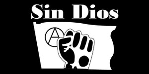 "Sin Dios 5.5x2.75"" Printed Sticker"
