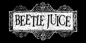 "Beetlejuice 5.5x2.75"" Printed Sticker"