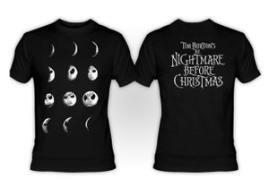 The Nightmare Before Christmas  Jack as Moon Phases T-Shirt