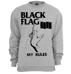 Black Flag My Rules Crew Neck Sweatshirt
