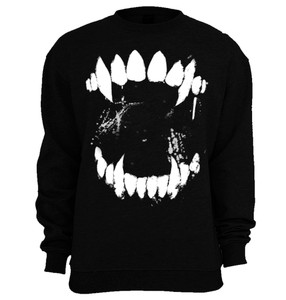 Wolf Fangs Crew Creepy Neck Sweatshirt