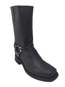 Road Warrior - Nightrider Harness Boots in Black