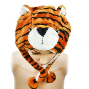 Tiger Plush Wrap-Around Hat