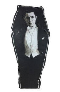 Dracula Coffin-Shapped Throw Pillow