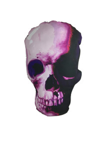 Pink Skull Throw Pillow