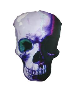 Go Rocker - Purple Skull Throw Pillow