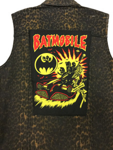 "Batmobile Psycho Carnival 13.5"" x 10.5"" Color Backpatch"