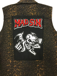 """Go Rocker - Mad Sin Angel 13.5"""" x 10.5"""" Color Backpatch"""