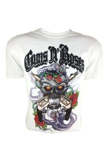 Guns N' Roses - Skull & Guns White T-Shirt