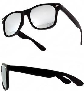 Black Mirrored Wayfarer Unisex Sunglasses