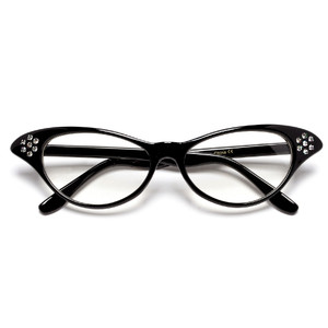 Rhinestone Betty Cat Eye Glasses