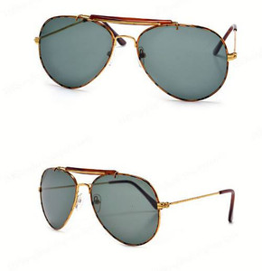 Faux Tortoise Shell Frame Polarised Aviator Sunglasses