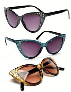 Rhinestone Kateyez Cat Eye Sunglasses