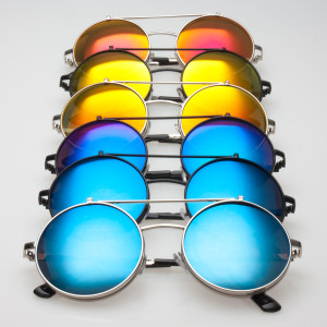 Polarized Futuristic Flip-up Round Sunglasses