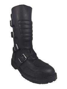 Road Warrior - Goose 4-Strap Harness Black Leather  Boots