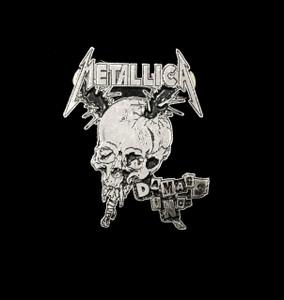 """Metallica - Damaged One 2"""" Metal Badge Pin"""