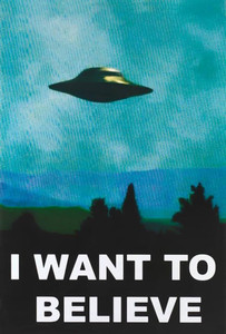 """X-Files - I Want To Believe 24x36"""" Poster"""