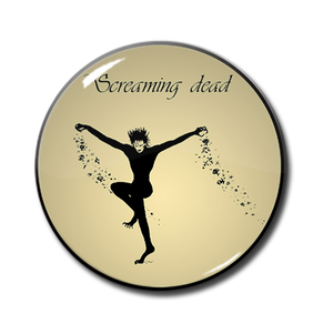 "Screaming Dead 1"" Pin"