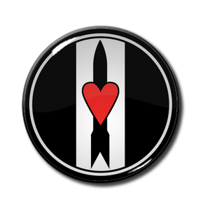 "Love and Rockets 1"" Pin"