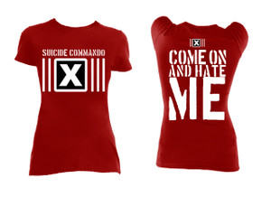 Suicide Commando - Come on and Hate Me Red Blouse T-Shirt