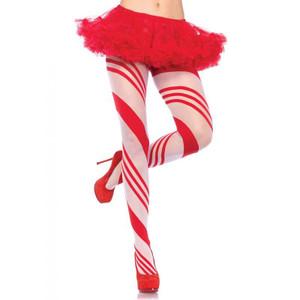 Candy Cane Striped Pantyhose