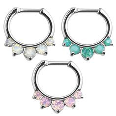Opal Princess Septum Clicker