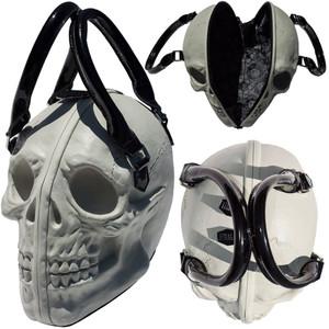 Kreepsville 666 - Skull Collection Handbag White