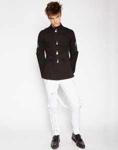 Men's Black Straight Jacket