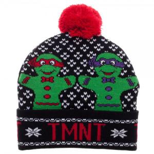 TMNT Cuff Pom Beanie