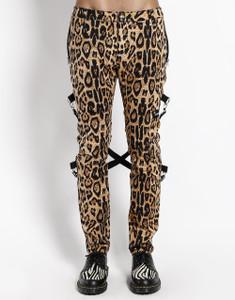 Leopard Chaos Pants Strech Bondage Pants