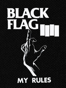 "Black Flag - My Rules 4x5"" Printed Patch"