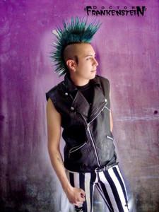 Black Vegan Punk Leather Vest