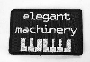 """Elegant Machinery Keyboard 3"""" Embroidered Patch"""